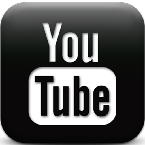 youtube logo black and white 32